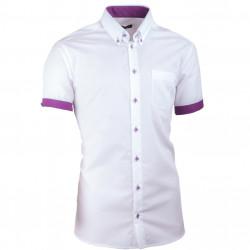 Bílá pánská košile slim fit 100 % bavlna non iron Assante 40010