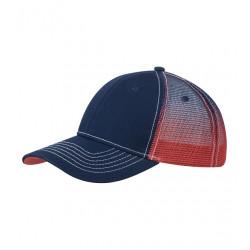 Modročervená čepice síťovaná Cofee 81150