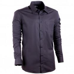 Prodloužená košile pánská regular fit černá Assante 20107