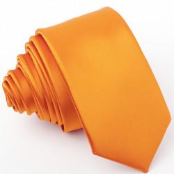 Pánská kravata slim oranžová Greg 99171