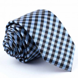 Slim kravata modrá Greg 94261