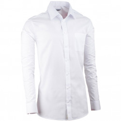Bílá pánská košile regular fit s dlouhým rukávem Aramgad 30081