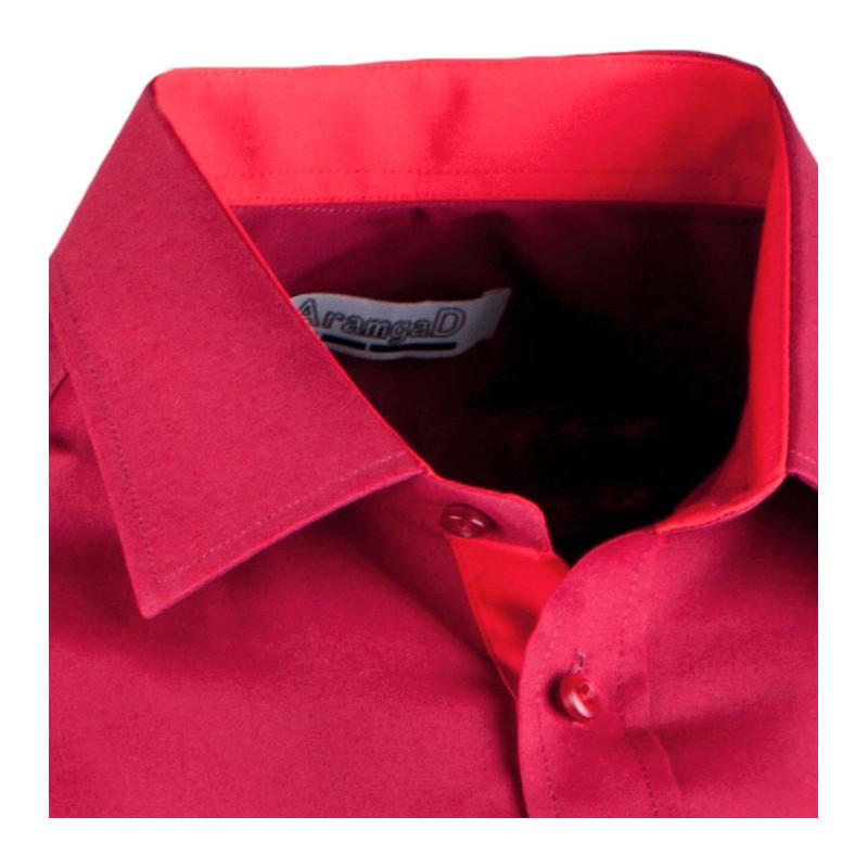 Bordó pánská košile slim fit s dlouhým rukávem Aramgad 30380 02d6f9564c
