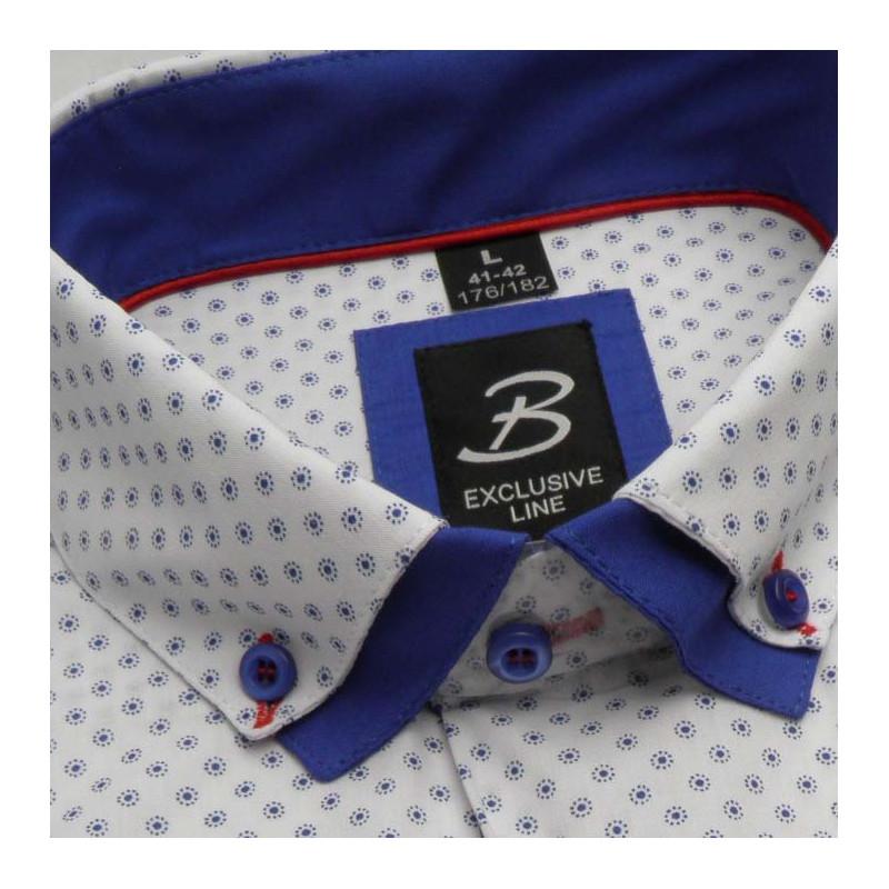 a2e28369c77d Bílá pánská košile dlouhý rukáv vypasovaný střih Brighton 109959