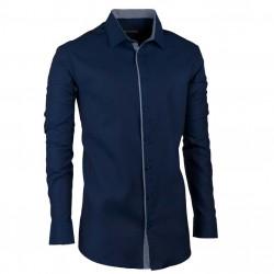 Luxusní pánská košile slim modrá denim Assante 30427