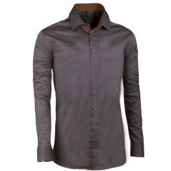 Nadměrná košile 100% bavlna tmavě šedá Assante 31020