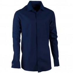 Košile na manžetový knoflíček rovná modrá indigo Assante 30430