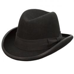 Černý pánský tvrdý klobouk Homburg Assante 85029