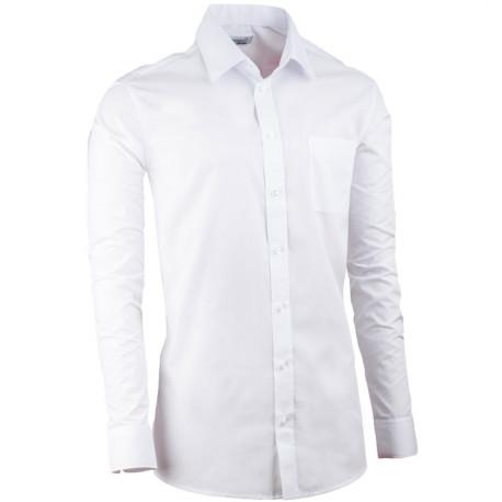Prodloužená pánská košile slim bílá Aramgad 20000
