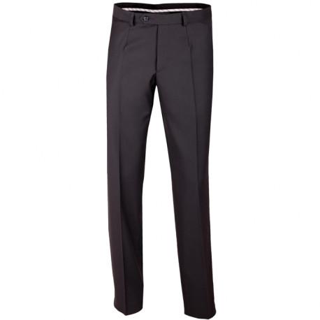 Extra prodloužené pánské černé kalhoty společenské na výšku 188 – 194 cm Assante 60503