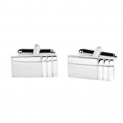 Manžetové knoflíčky stříbrné barvy Assante 90521
