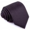 Černá kravata fialový puntík Greg 91198