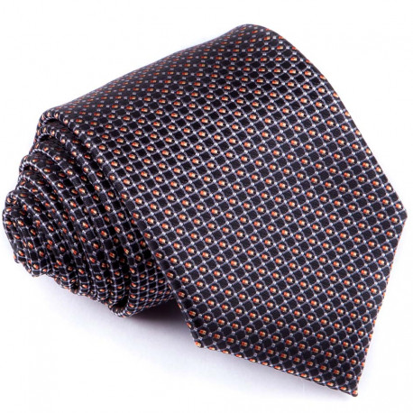Černošedá luxusní kravata Greg 91199