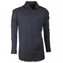 Prodloužená pánská košile slim šedá Assante 20101