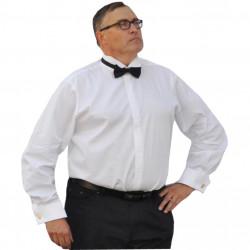 Nadměrná fraková košile 100 % bavlna na manžetový knoflík bílá Assante 31003