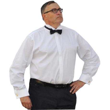 Nadměrná fraková košile 100 % bavlna na manžetový knoflík bílá Assante 31003 0f6d558420
