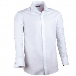 Nadměrná košile manžetový knoflík bílá Assante 31012