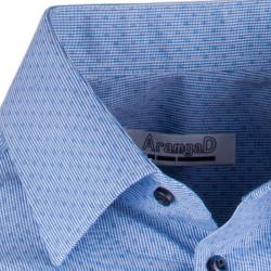 Modrá elegantní košile vypasovaná slim fit Aramgad 30431