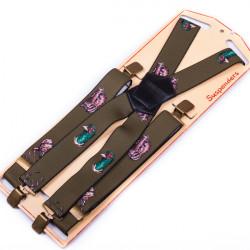 Luxusní myslivecké kšandy zelené kanec Assante 90152