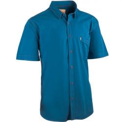Petrolejová pánské košile krátký rukáv rovný střih Tonelli 110820