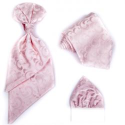 Růžová regata,kravata,kapesníček,slavnostní souprava Assante 90670
