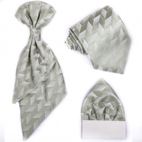 Zelená regata,kravata,kapesníček,slavnostní souprava Assante 90672