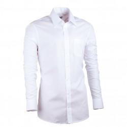Prodloužená pánská košile slim bílá Assante 20003
