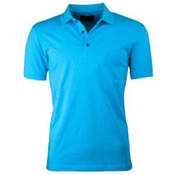 Tyrkysová pánská polokošile s krátkým rukávem ,triko s limečkem Tony Montana 45027