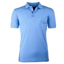 Modrá pánská polokošile s krátkým rukávem ,triko s limečkem Tony Montana 45028