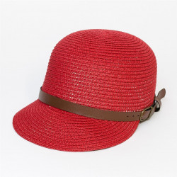 Bekovka slamák s kšiltem barva červená Assante 161226