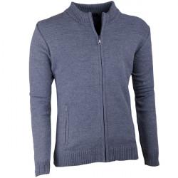 Šedý pánský svetr na zip Assante 51013