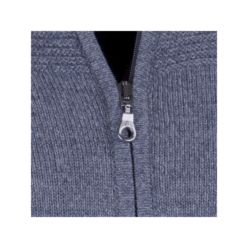 Šedý pánský svetr na zip Assante 51013 ad7b3b073f