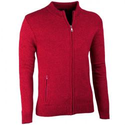 Bordó pánský svetr na zip Assante 51014