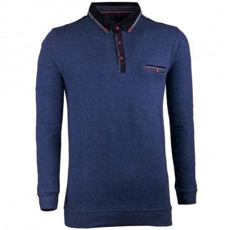 Modrý pánský svetr bavlněný Semal 167014
