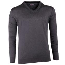Šedý pánský svetr bavlněný Semal 167022