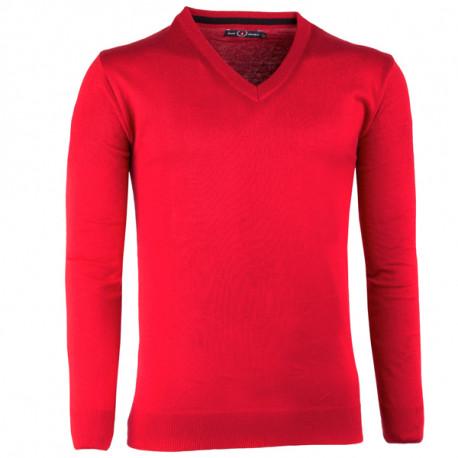Červený pánský svetr tenký Scot Sanders 167023