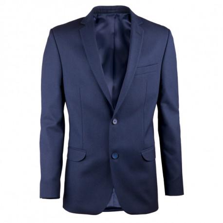 Prodloužené pánské sako modré na výšku 188 – 194 cm Assante 60005