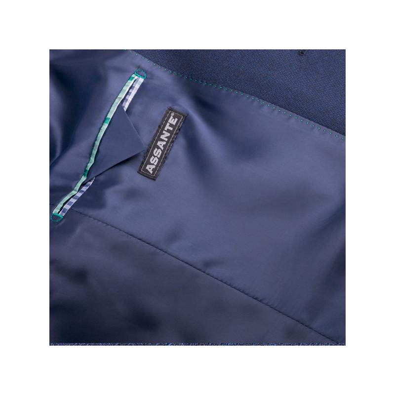 Prodloužené pánské sako modré na výšku 188 – 194 cm Assante 60005 7502430ed7