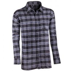 58ed8dcbb86 Šedočerná flanelová košile dlouhý rukáv... Klasická pánská košile.