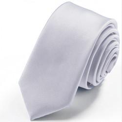Stříbrná kravata jednobarevná Greg 99911