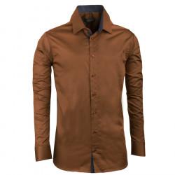 Bronzová pánská košile slim 100% bavlna non iron Assante 30285 4aa23d494b