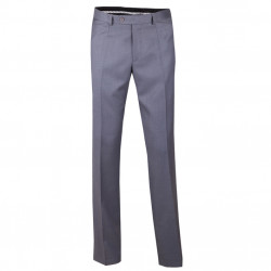 Nadměrné pánské šedé společenské kalhoty Assante 60514