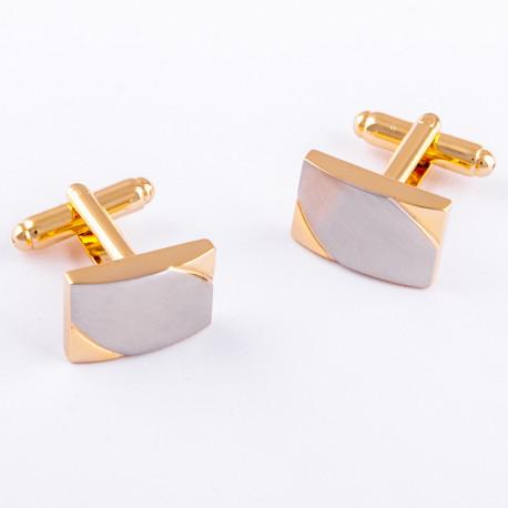 Manžetové knoflíčky zlaté barvy Assante 90552