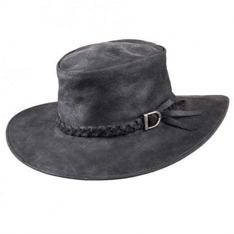 Černý kožený klobouk Tonak 85033