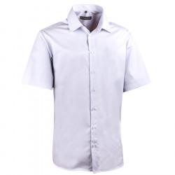 Pánská světle šedá košile slim krátký rukáv 100% bavlna non iron Assante 40146