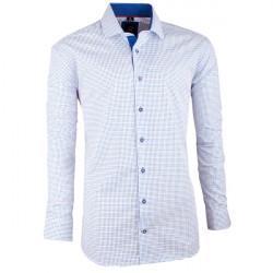 Bílomodrá pánská košile slim fit Brighton 109944