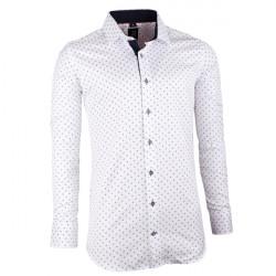Bílomodrá pánská košile slim fit Brighton 109945
