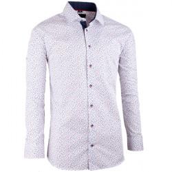 Bílomodrá pánská košile slim fit Brighton 109946
