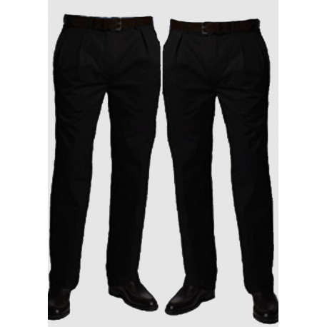 Černé pánské společenské kalhoty na výšku 176 – 182 cm Falkom 160101