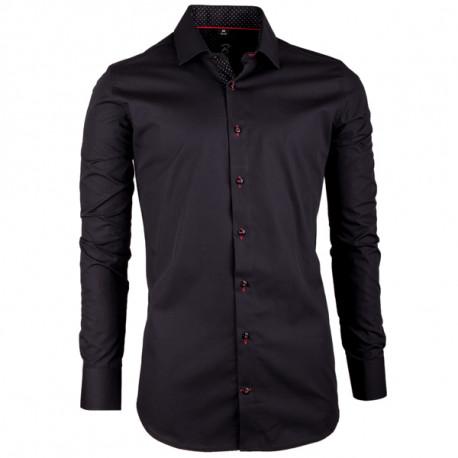 Černá pánská košile slim fit 100 % bavlna Brighton 109948
